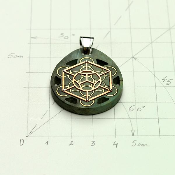 Cube de Metatron loupe de Pavier (U.S.A)