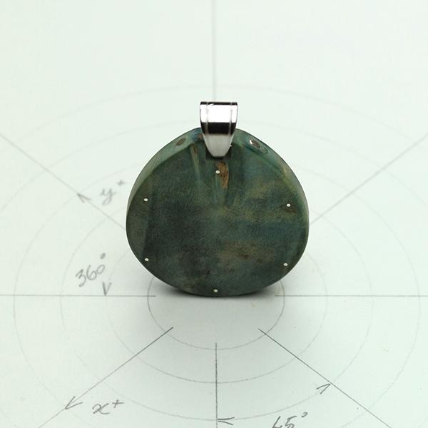 Étoile Tétraédrique argent loupe de Pavier (U.S.A) dos