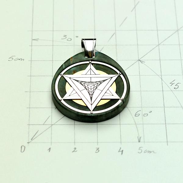Étoile Tétraédrique argent loupe de Pavier (U.S.A)